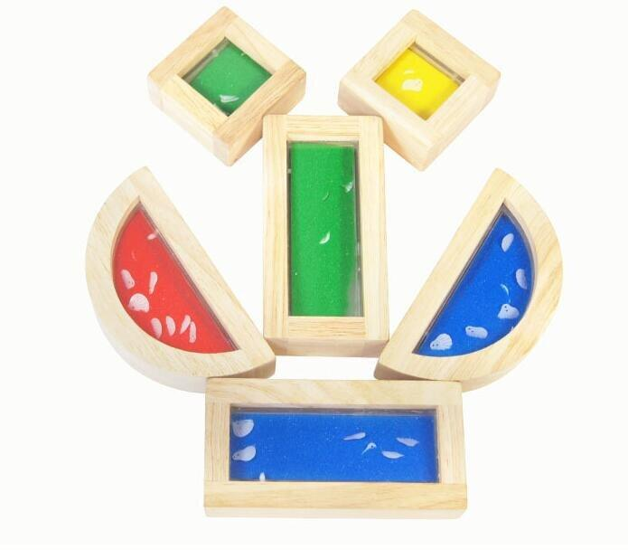 Sensory Wooden Block with Shell Inside - 8 Pieces - Daily Mind