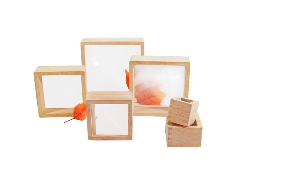 Sensory Wooden Magnifier Blocks - 8 Pieces - Daily Mind
