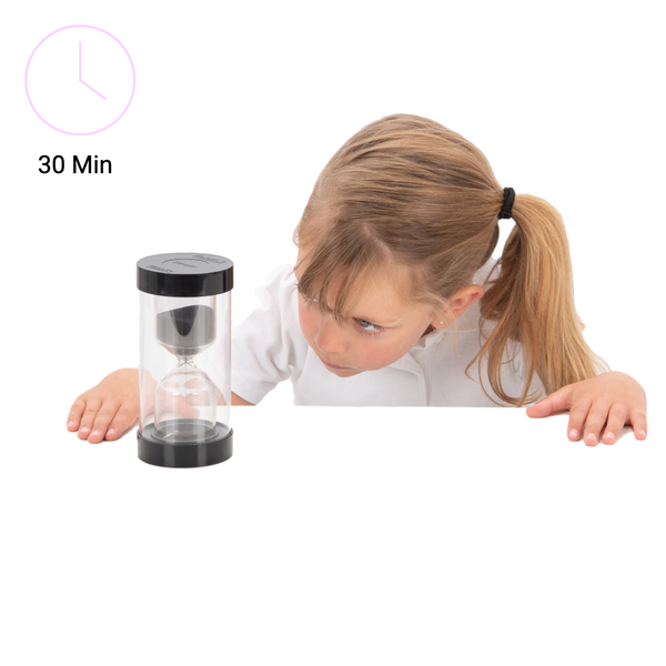 Sand Timer Colour Bright Black - 30 Minutes