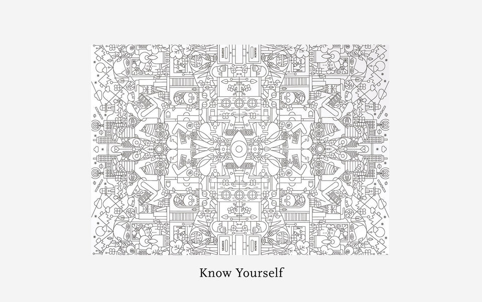 Therapeutic Colouring A1 Poster:  Know Yourself - Daily Mind