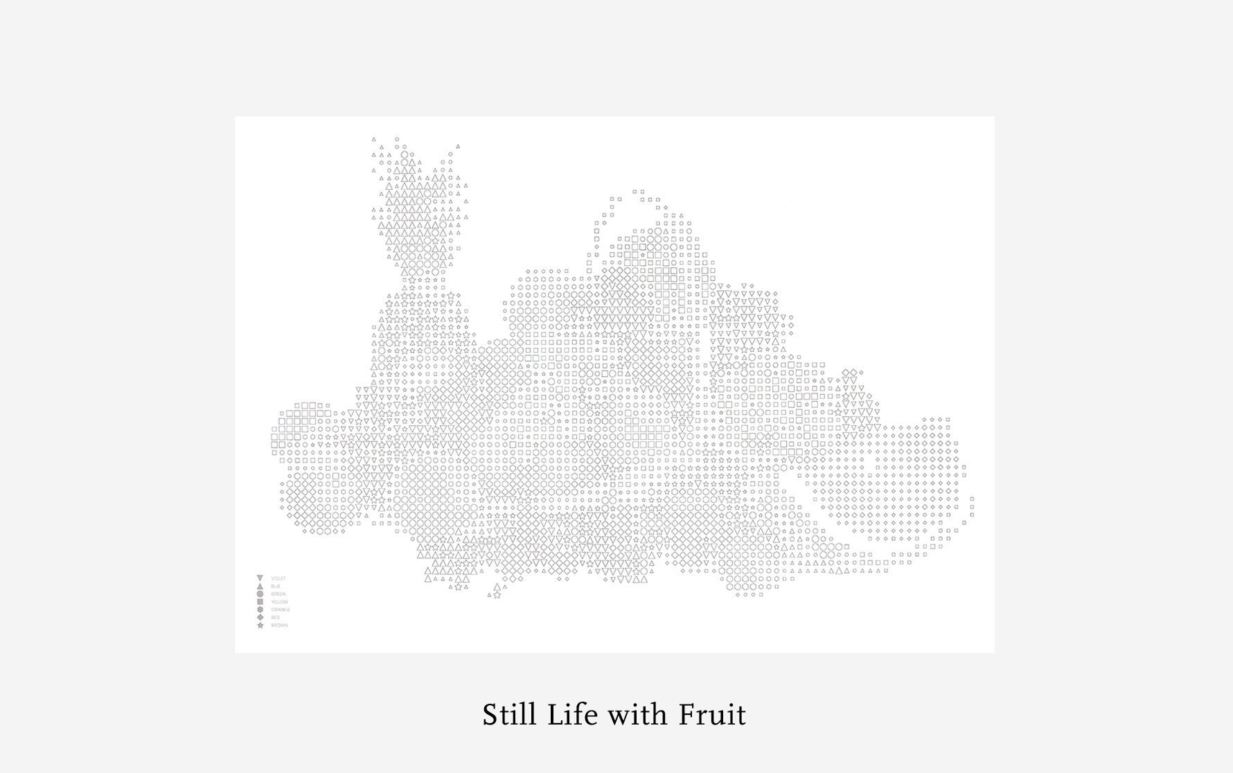 Therapeutic Colouring A1  Poster : Still Life with Fruit - Daily Mind