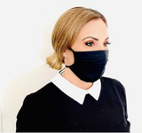 B500-Fabric Masks w/ Ties - Black ($1.99/mask, pack of 10)