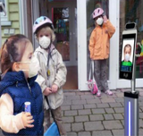 AI Face Recognition & Temperature Measuring Device