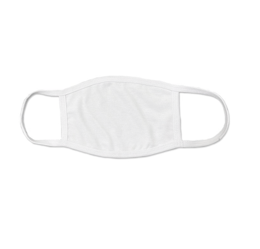 W200-White Fabric Mask w/ Earloops ($3.99/mask, pack of 10)