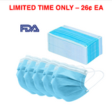 S100 - FDA Certified Surgical Masks (pack of 50)