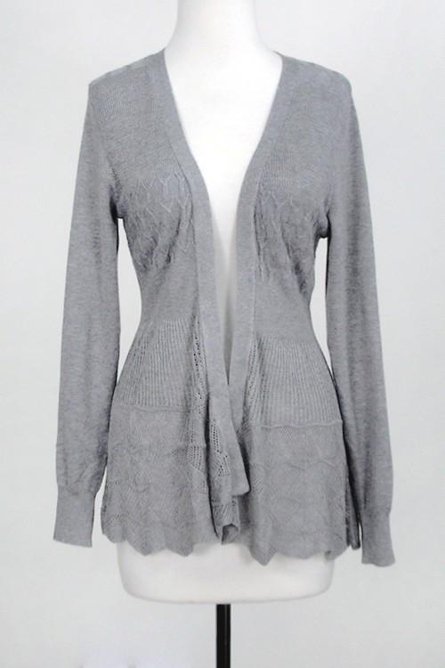 Not Over You Curvy Girl Grey Cardigan