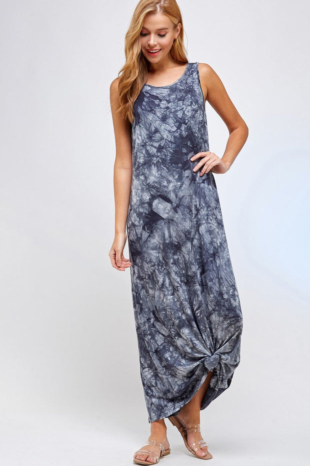 Stormy Skies Gray Maxi Dress
