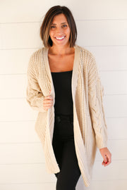 CREAM SWEATER KNIT CARDI