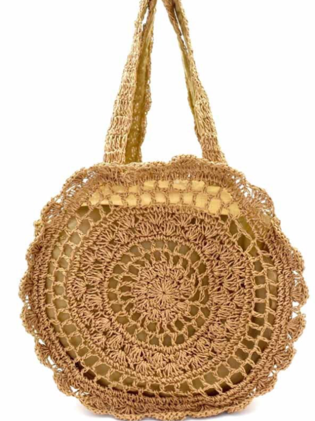 Tan Crochet Handbag