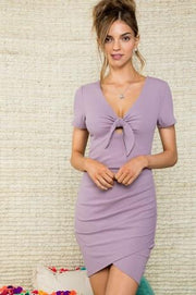 Lavender Ribbed Dress
