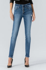 Flying Monkey High Rise Disclosure Skinny Jeans