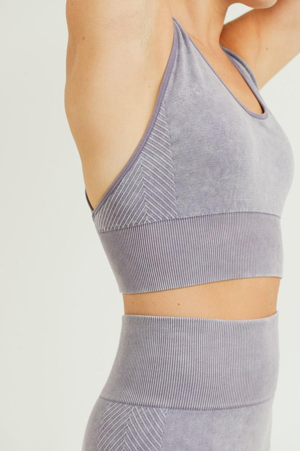 Gotta Run Geo Back Mauve Sports Bra