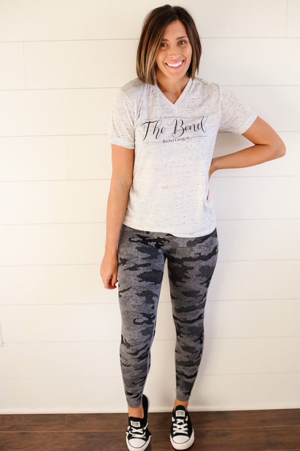 HEATHERED CAMO LEGGINGS