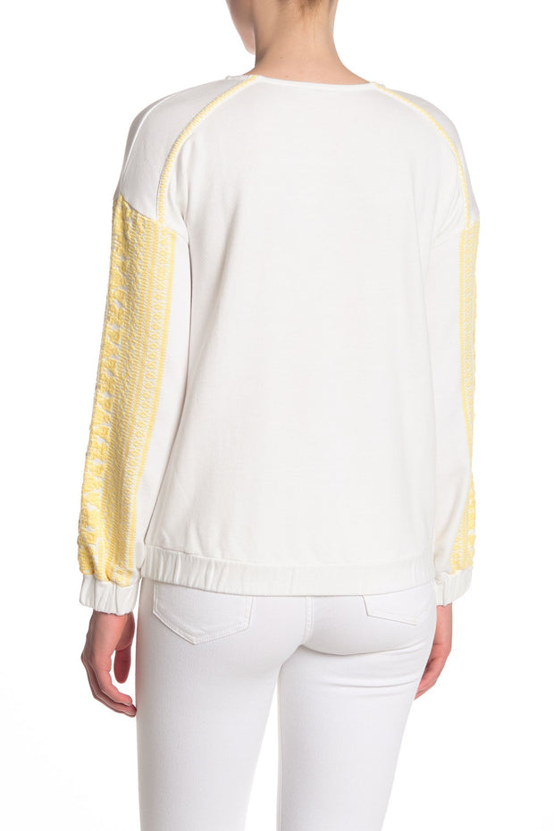 Willow and Clay Embroidered Sweatshirt Yellow