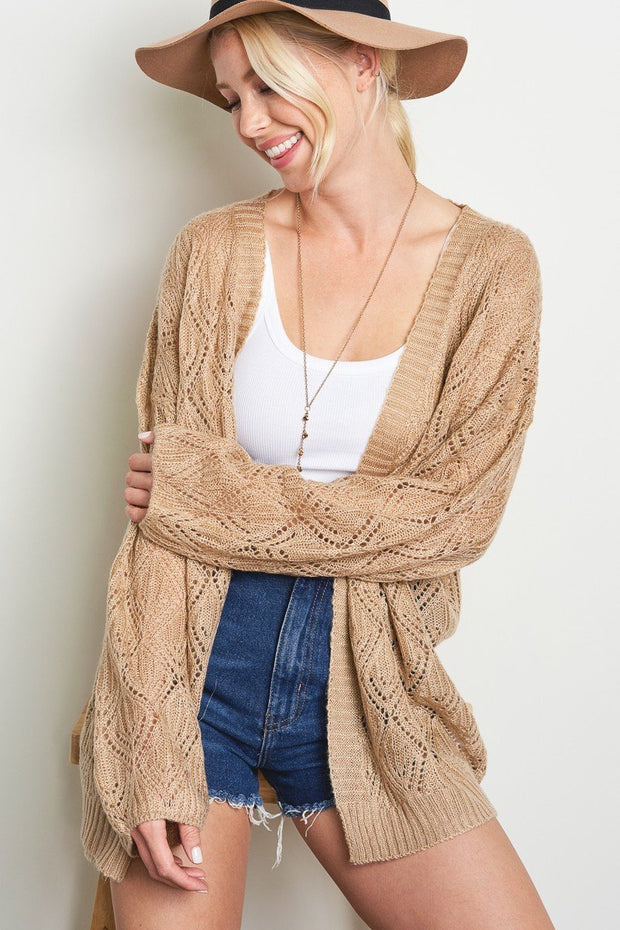 Taupe Knit Cardi