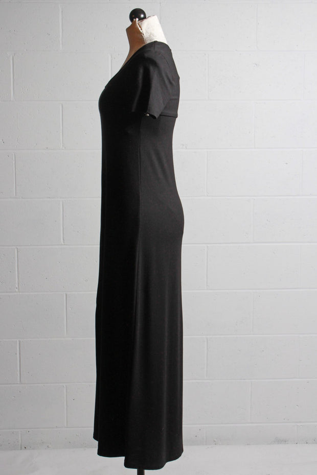 Fifteen Twenty Slit Front Dress Black