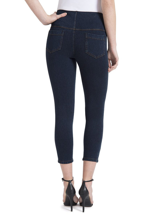 Lysse Toothpick Denim Crop - Indigo