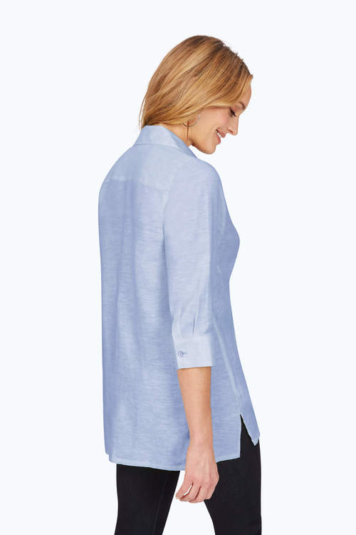 Foxcroft Stirling Top Malibu Blue