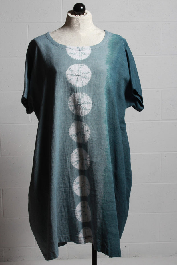 Moyuru Tie Dye Dress Blue