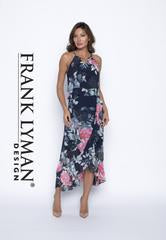 Frank Lyman Navy/Pink Woven Dress