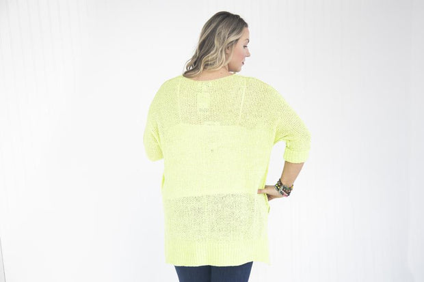 Look On The Bright Side Neon Lime Sweater