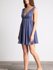 Deep V-Neck Dress-Final Sale