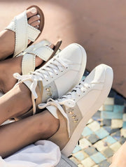 Jack Rogers Ainsley Sneaker White Metallic