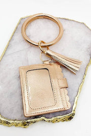 Scallop Trim ID Wallet/Keychain (more colors available)