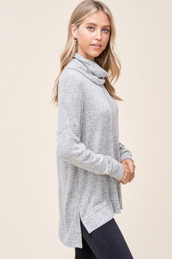 I Knew I Loved You Heather Grey Sweater