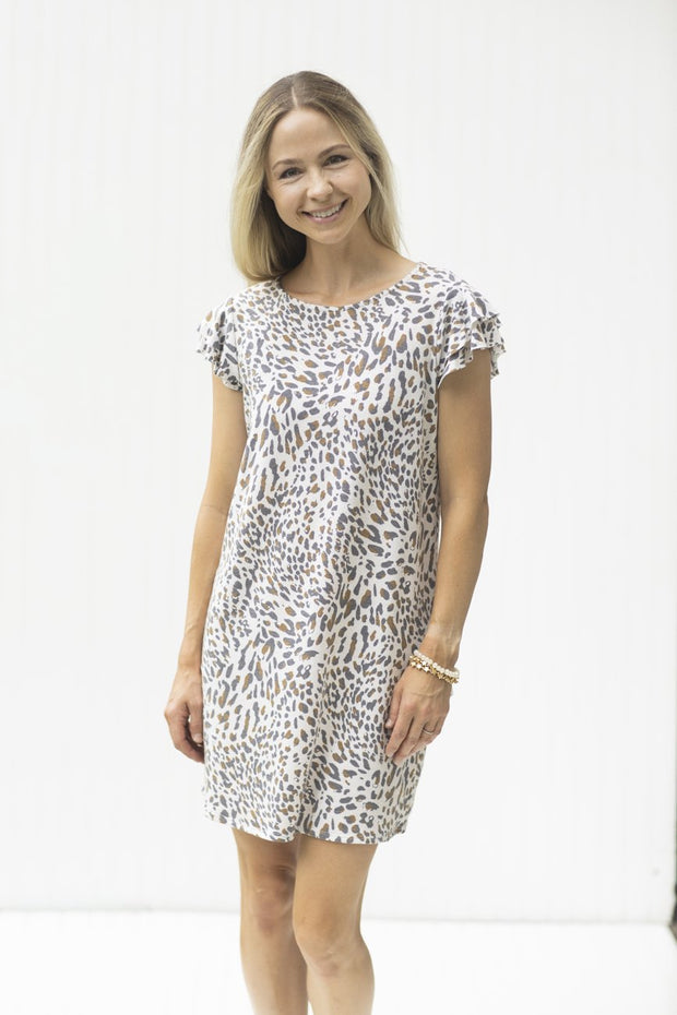 Wild Thoughts Ivory Animal Print Dress