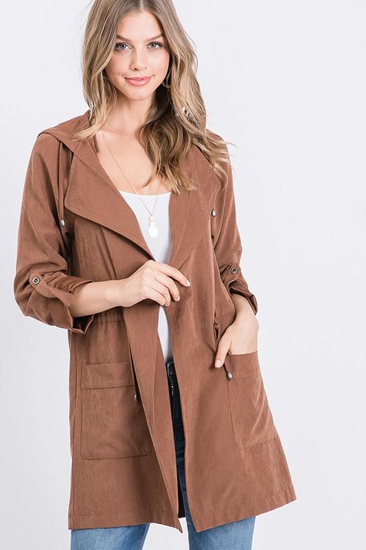 All You Need Is Love Chestnut Suede Jacket