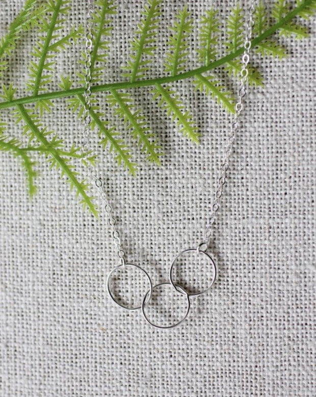 Bubble Charm Sterling Necklace