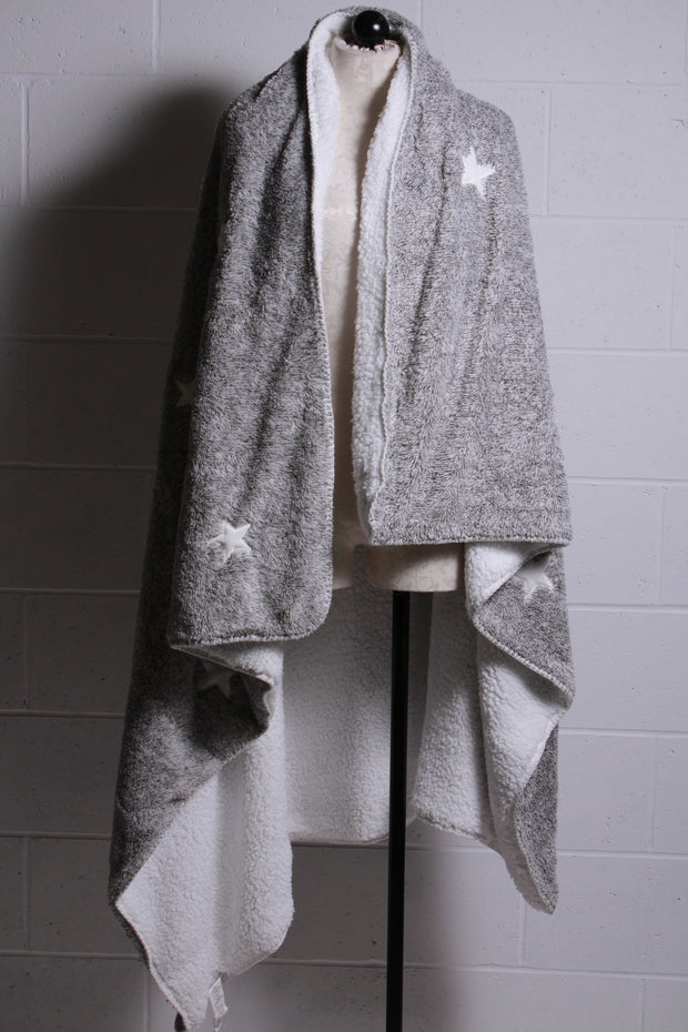 PJ Salvage Cozy Blanket Heather Grey RUCOBL