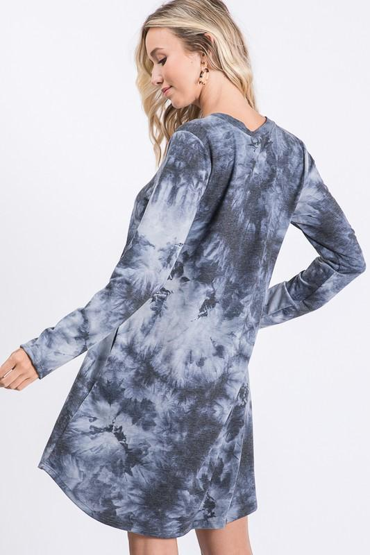 Forever Young Navy Tie-Dye T-Shirt Dress