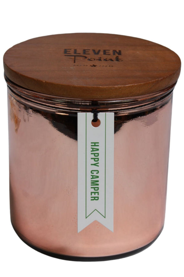 Eleven Point Happy Camper Candle
