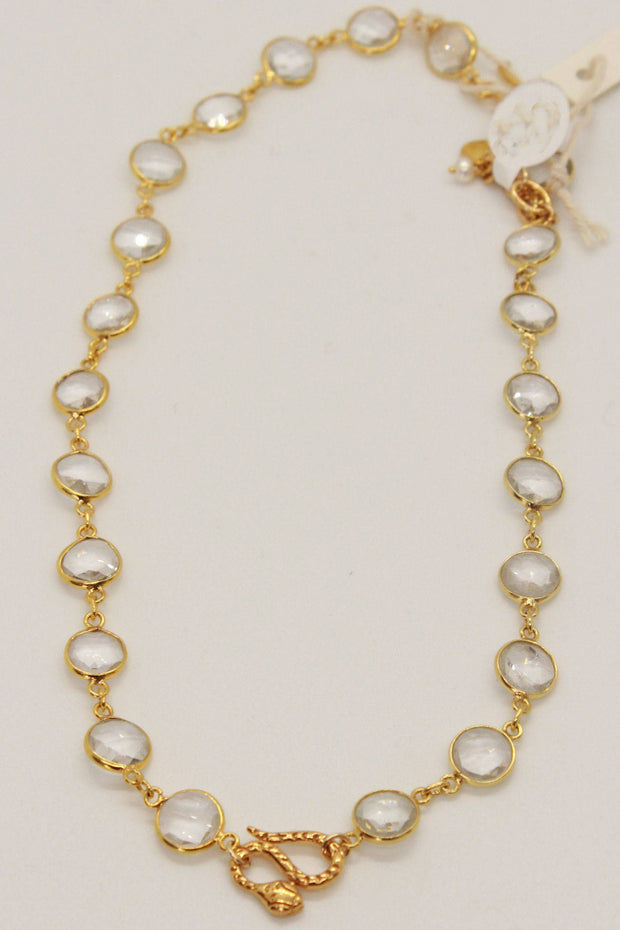 Quartz Disc Snake Necklace-Chan Luu