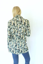 Abstract Work of Art Sage Knit Tunic
