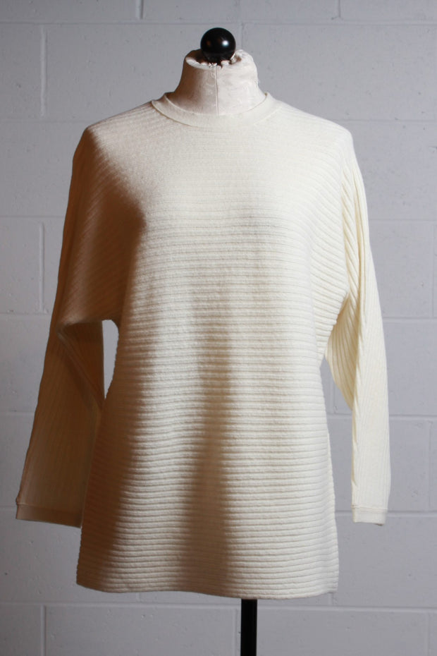 Two Danes Luella Ribbed Pullover White Dove 25691