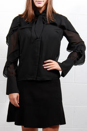 Soaked In Luxury Gianna Shirt Black
