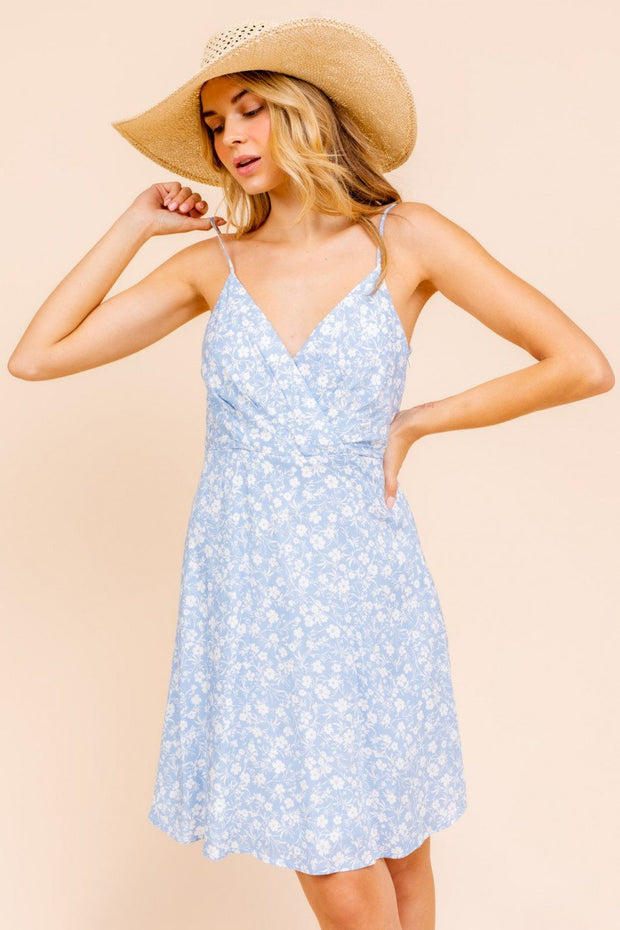 Clear Skies Floral Print Dress