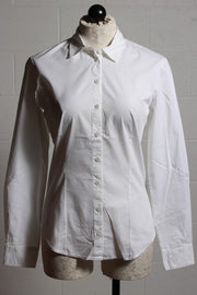 European Culture Fitted Blouse Optical White