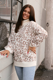 Call Me Chic Leopard Turtleneck Sweater