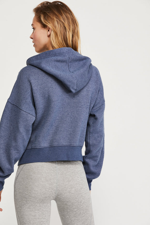Free People Believe It Navy Hoodie