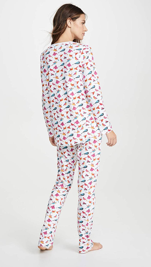 Roller Rabbit Funny Birds Pajamas Fuschia