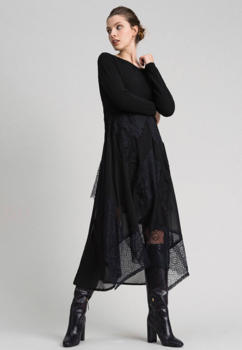 Twinset Lace Dress with Sweater Top