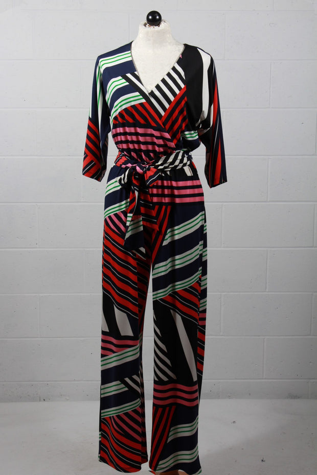 Multi Colored Striped Jumpsuit -Trina Turk