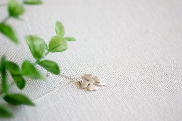 A Little Extra Luck Larger Clover Necklace