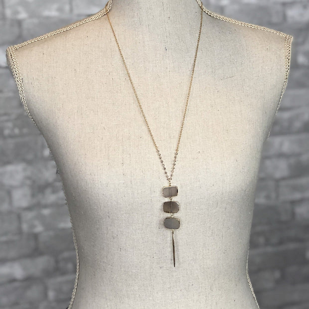 Mix Mercantile Designs - Gray - Bailey Necklace