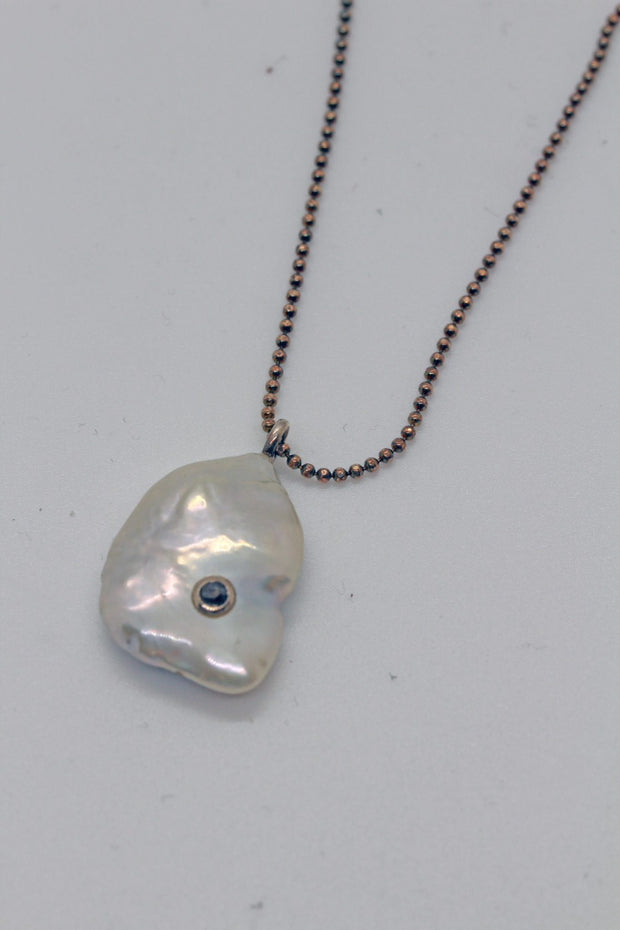 White Pearl Pendant Necklace-Chan Luu
