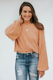 Peach Fuzz Sweater